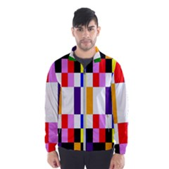 Rainbow Color Blocks Red Orange Wind Breaker (men)