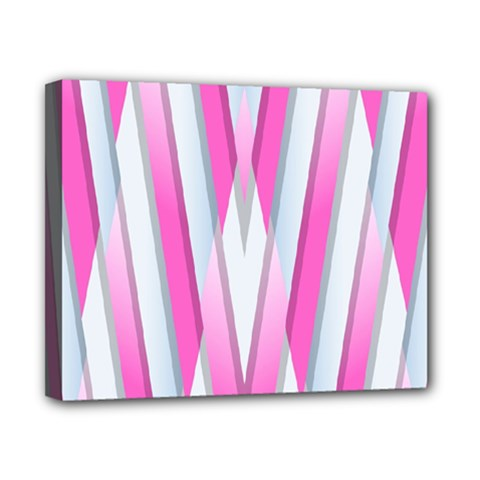 Geometric 3d Design Pattern Pink Canvas 10  X 8