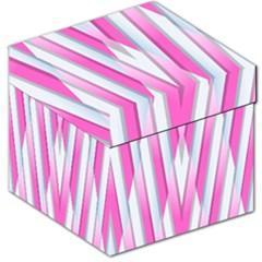 Geometric 3d Design Pattern Pink Storage Stool 12