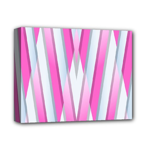 Geometric 3d Design Pattern Pink Deluxe Canvas 14  X 11
