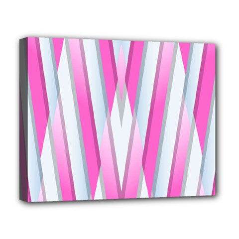 Geometric 3d Design Pattern Pink Deluxe Canvas 20  X 16