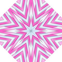 Geometric 3d Design Pattern Pink Hook Handle Umbrellas (medium) by Nexatart