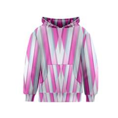 Geometric 3d Design Pattern Pink Kids  Pullover Hoodie