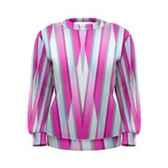 Geometric 3d Design Pattern Pink Women s Sweatshirt
