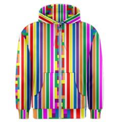 Rainbow Geometric Design Spectrum Men s Zipper Hoodie