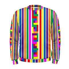 Rainbow Geometric Design Spectrum Men s Sweatshirt
