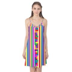 Rainbow Geometric Design Spectrum Camis Nightgown