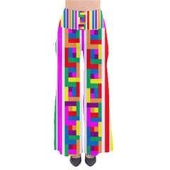Rainbow Geometric Design Spectrum So Vintage Palazzo Pants