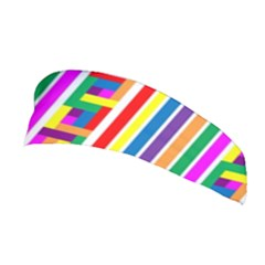 Rainbow Geometric Design Spectrum Stretchable Headband
