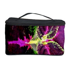 Plant Purple Green Leaves Garden Cosmetic Storage Case