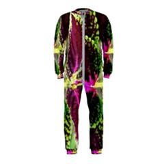Plant Purple Green Leaves Garden Onepiece Jumpsuit (kids)