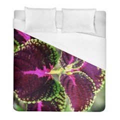 Plant Purple Green Leaves Garden Duvet Cover (full/ Double Size) by Nexatart