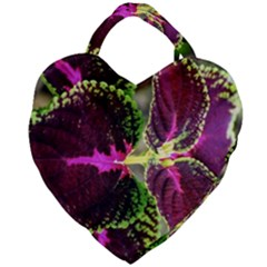 Plant Purple Green Leaves Garden Giant Heart Shaped Tote