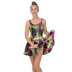 Plant Purple Green Leaves Garden Inside Out Dress