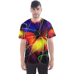 Fractal Pattern Abstract Chaos Men s Sports Mesh Tee