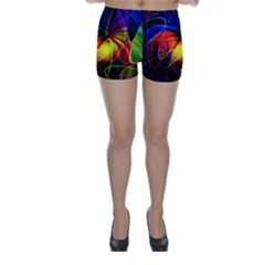 Fractal Pattern Abstract Chaos Skinny Shorts