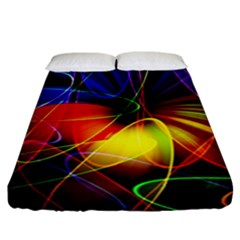 Fractal Pattern Abstract Chaos Fitted Sheet (california King Size)