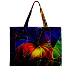 Fractal Pattern Abstract Chaos Zipper Mini Tote Bag
