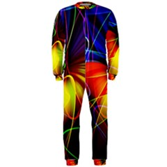 Fractal Pattern Abstract Chaos Onepiece Jumpsuit (men)