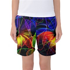 Fractal Pattern Abstract Chaos Women s Basketball Shorts