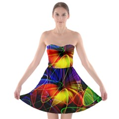 Fractal Pattern Abstract Chaos Strapless Bra Top Dress