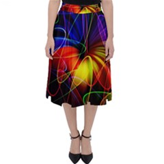 Fractal Pattern Abstract Chaos Folding Skater Skirt