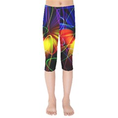 Fractal Pattern Abstract Chaos Kids  Capri Leggings