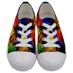 Fractal Pattern Abstract Chaos Kids  Low Top Canvas Sneakers