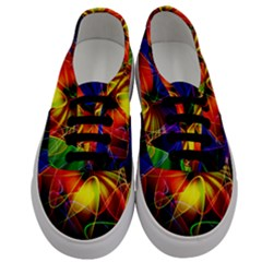 Fractal Pattern Abstract Chaos Men s Classic Low Top Sneakers