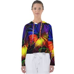 Fractal Pattern Abstract Chaos Women s Slouchy Sweat