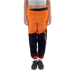 Sunset Cat Shadows Silhouettes Women s Jogger Sweatpants