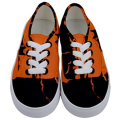 Sunset Cat Shadows Silhouettes Kids  Classic Low Top Sneakers