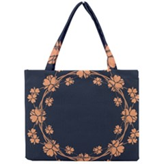 Floral Vintage Royal Frame Pattern Mini Tote Bag
