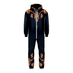 Floral Vintage Royal Frame Pattern Hooded Jumpsuit (kids)