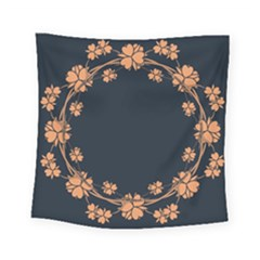 Floral Vintage Royal Frame Pattern Square Tapestry (small)
