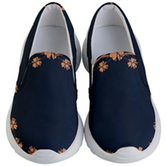Floral Vintage Royal Frame Pattern Kid s Lightweight Slip Ons