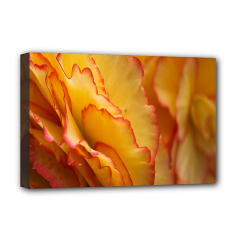 Flowers Leaves Leaf Floral Summer Deluxe Canvas 18  X 12