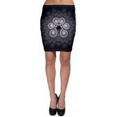 Fractal Filigree Lace Vintage Bodycon Skirt
