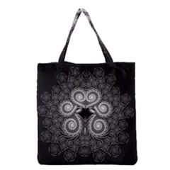 Fractal Filigree Lace Vintage Grocery Tote Bag