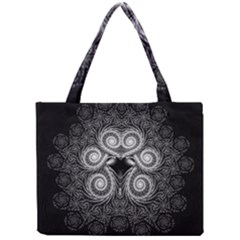 Fractal Filigree Lace Vintage Mini Tote Bag