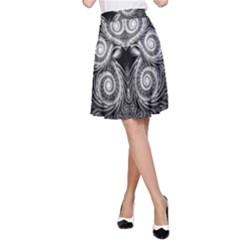 Fractal Filigree Lace Vintage A Line Skirt by Nexatart