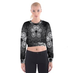 Fractal Filigree Lace Vintage Cropped Sweatshirt
