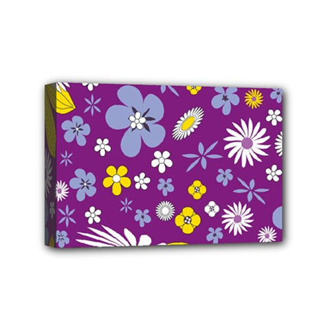 Floral Flowers Mini Canvas 6  X 4