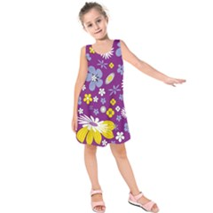 Floral Flowers Kids  Sleeveless Dress