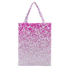 Halftone Dot Background Pattern Classic Tote Bag