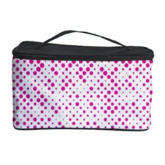 Halftone Dot Background Pattern Cosmetic Storage Case
