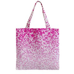 Halftone Dot Background Pattern Zipper Grocery Tote Bag
