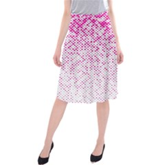 Halftone Dot Background Pattern Midi Beach Skirt