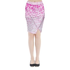 Halftone Dot Background Pattern Midi Wrap Pencil Skirt