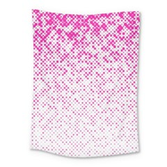 Halftone Dot Background Pattern Medium Tapestry
